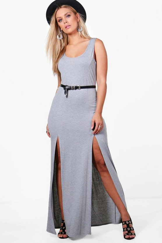 Plus Bianca Split Front Maxi Dress