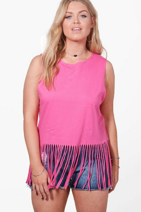 Plus Hannah Tassel Top