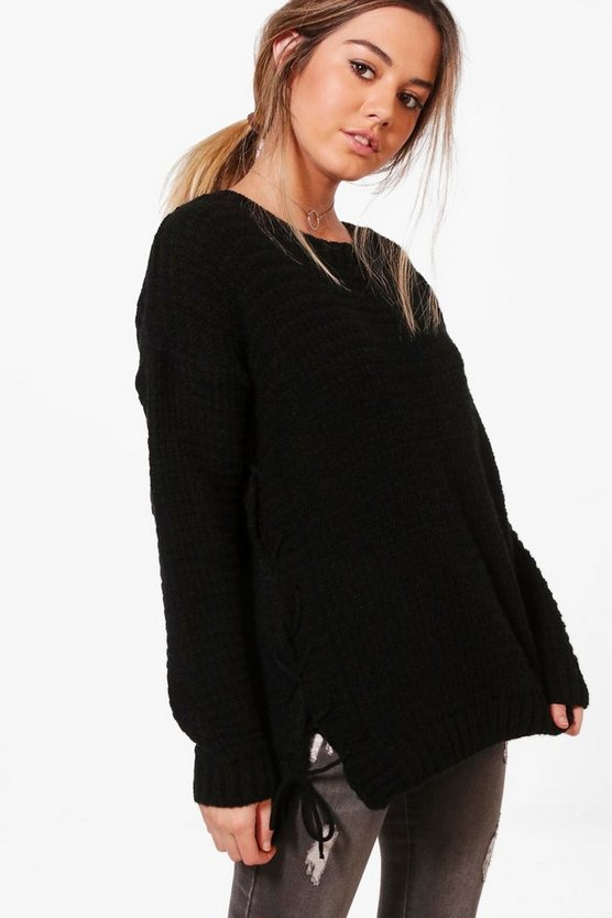 Petite Olivia Lace Up Side Jumper