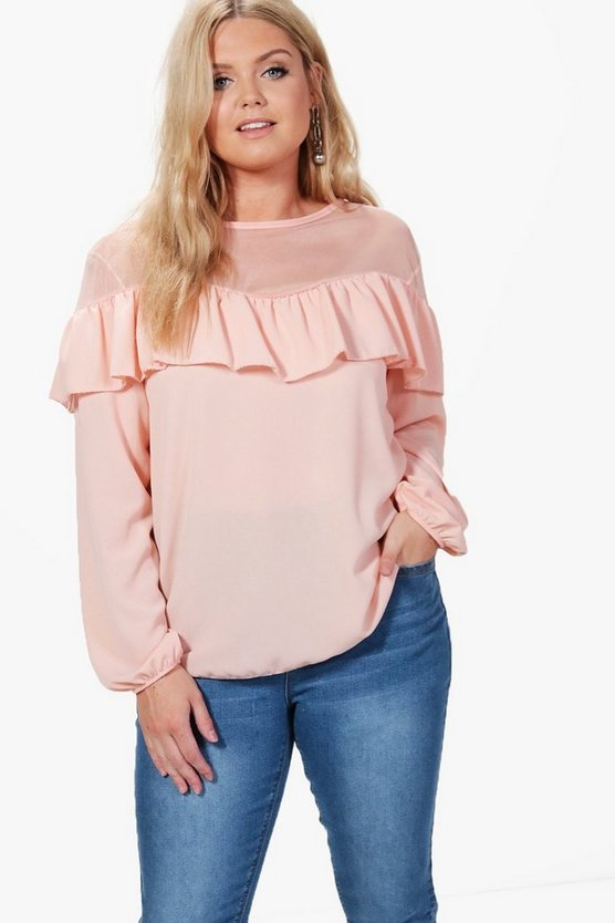 Plus Connie Ruffle Detail Top