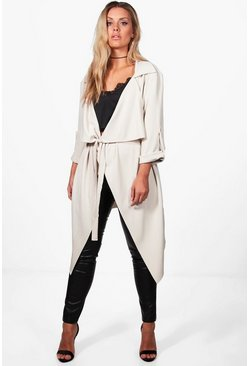 Plus Daisy Belted Waterfall Duster Coat