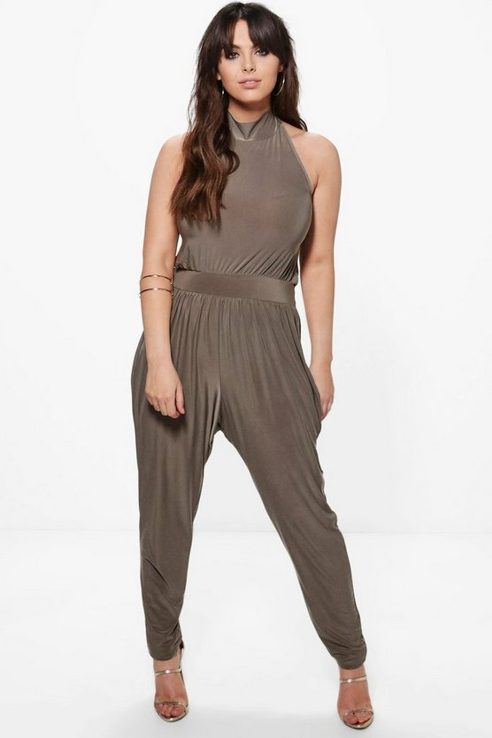 Plus Louise High Neck Jumpsuit