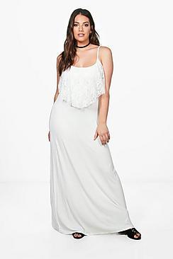 Plus Lorna Lace Ruffle Strappy Maxi Dress