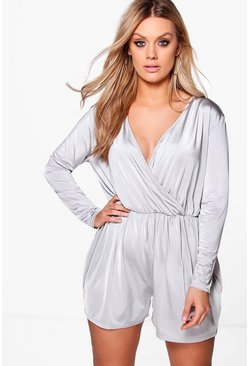 Plus Charlotte Slinky Plunge Playsuit