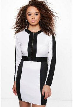 Plus Danielle Colour Block Bodycon Dress
