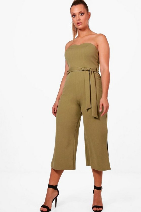 Plus Alice Bandeau Tie Waist Jumpsuit