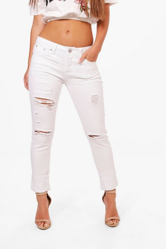 Petite Georgie Distressed Skinny Jean
