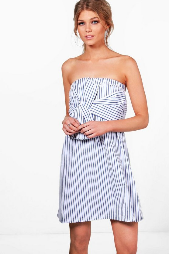Petite Louisa Stripe Tie Front Sundress
