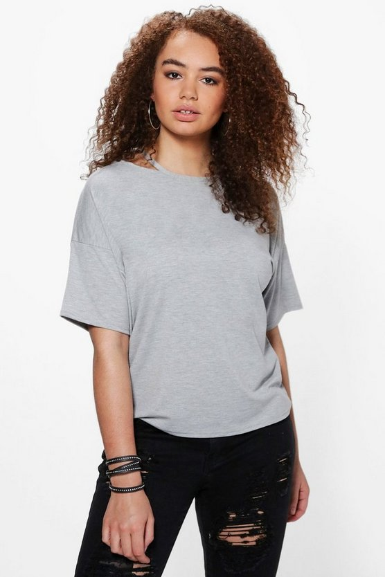 Plus Olivia Cut Out Detail T-shirt
