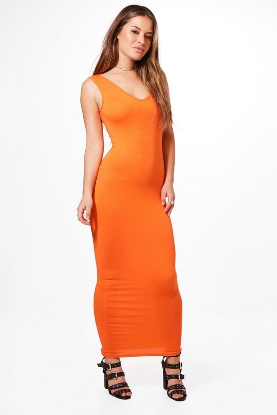 Petite Jorgie V Neck Maxi Dress