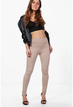 Petite Cara High Waisted Ribbed Leggings