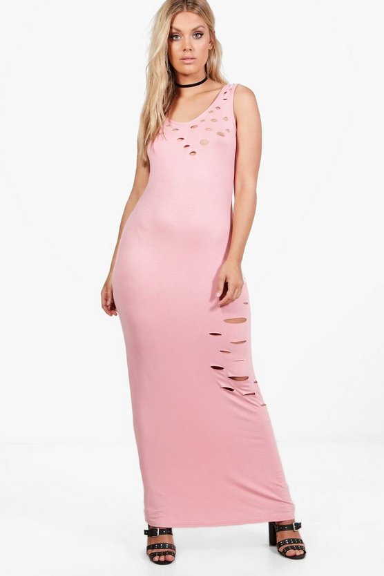 Plus Lorna Lazer Cut Maxi Dress