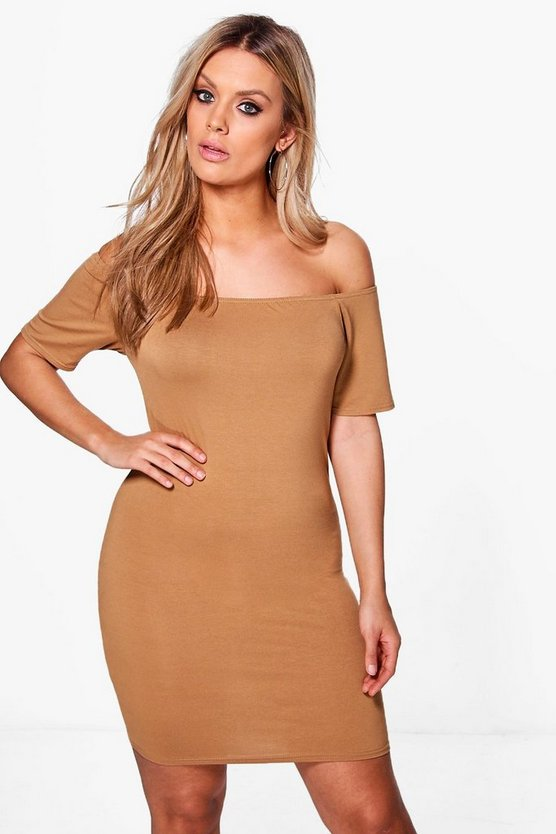 Plus Maria Bardot Bodycon Dress