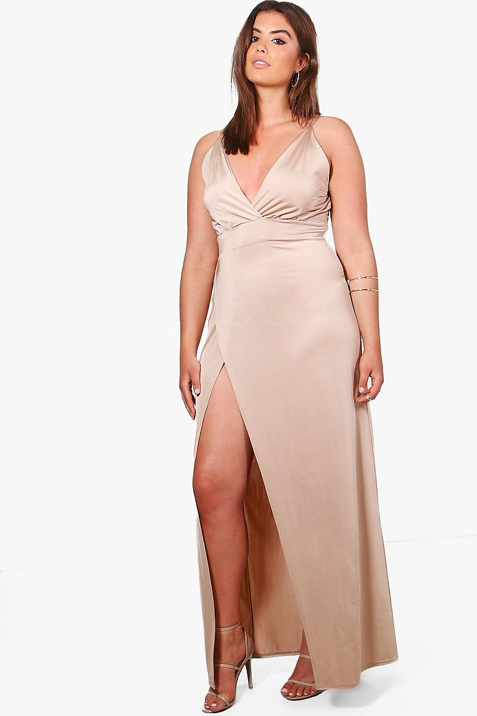 Plus Lily Slinky Plunge Maxi Dress