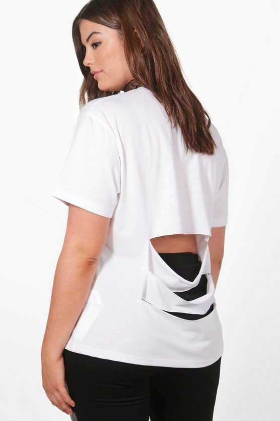 Plus Lucy Slash Back Detail Tee