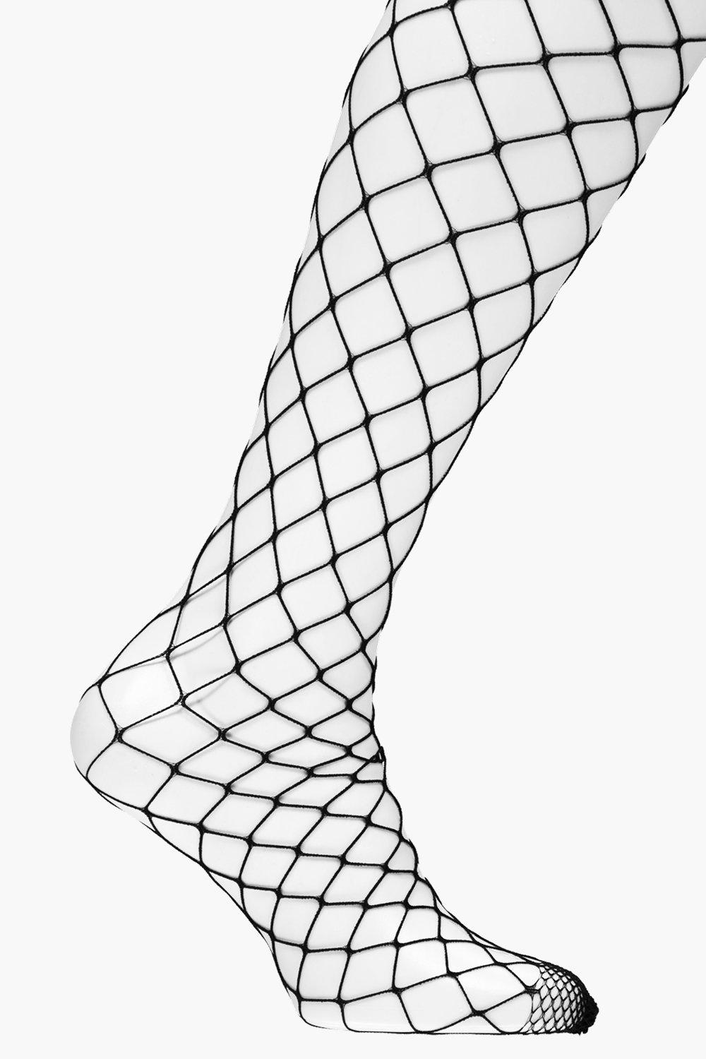 Catherine Large Fishnet Tights - black - Plus Cath