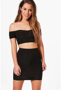 Petite Jenny Bandeau and Mini Skirt Co-Ord