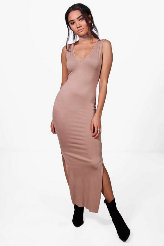 Petite Katilyn Choker Detail Maxi Dress