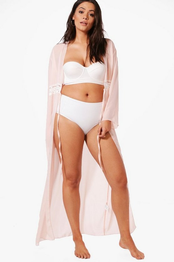 Plus Casey Maxi Trim Detail Beach Cover Up