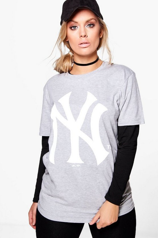 Plus Elisa NY Sports Slogan Tee