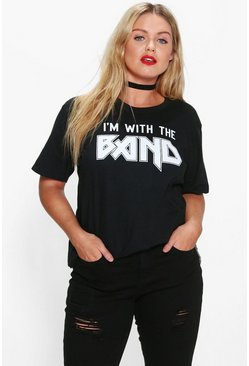 "Plus Amelia """"I'm With The Band"""" T-shirt"
