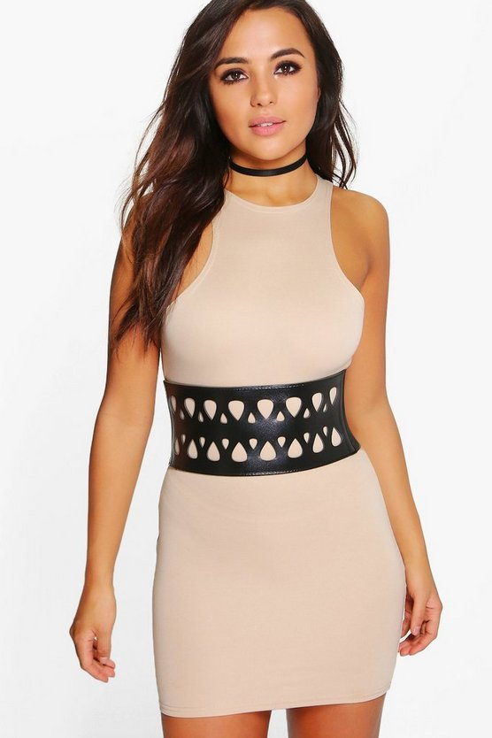 Petite Alice Belt Detail Bodycon Dress