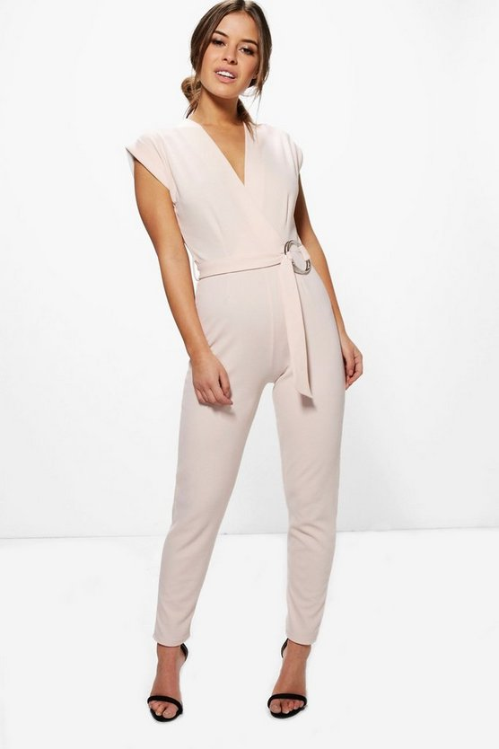 Petite Melissa O-Ring Detail Belted Jumpsuit