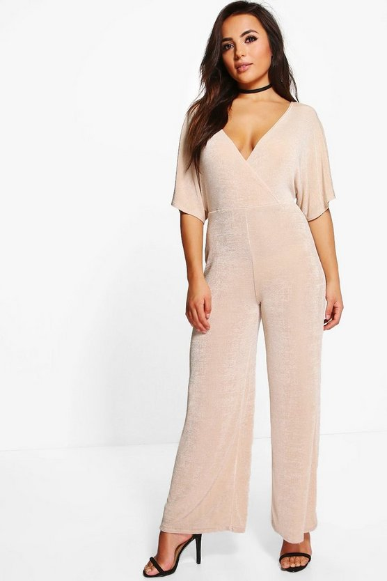 Petite Alison Wide Sleeve Wrap Jumpsuit