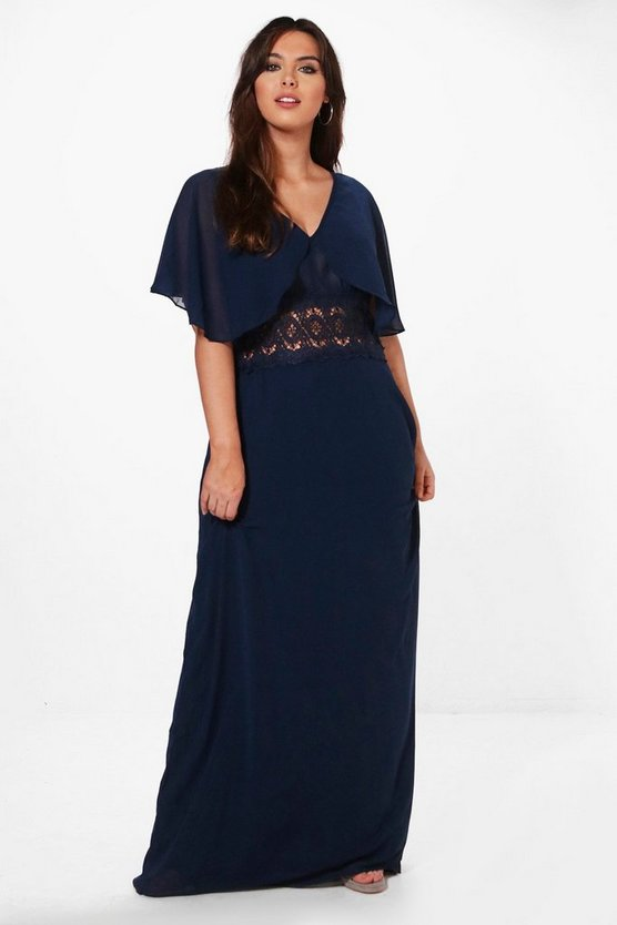 Plus Isobel Lace Waist Button Maxi Dress