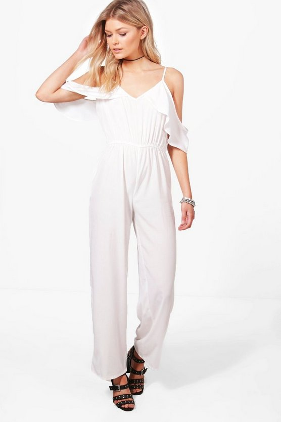 Petite Lily Open Shoulder Jumpsuit