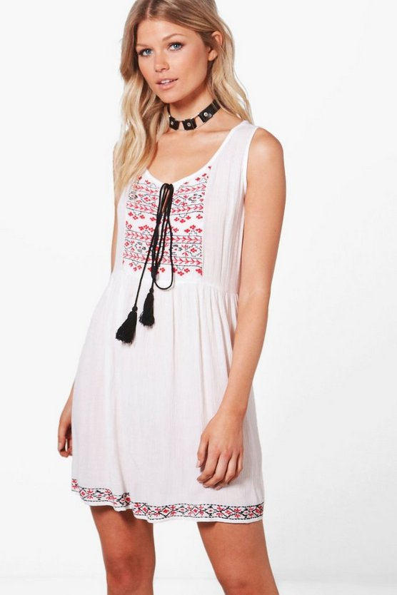 Petite Holly Embroidered Detail Sundress