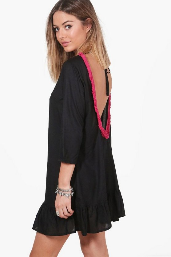 Petite Zoe Tassel Back Shift Dress