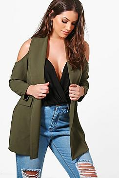 Plus Zoe Open Shoulder Jacket