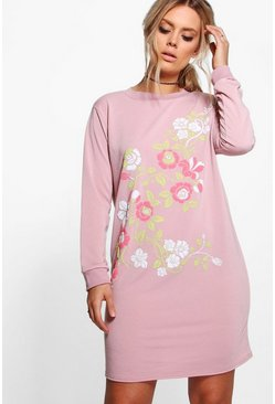 Plus Amy Floral Print Sweat Dress