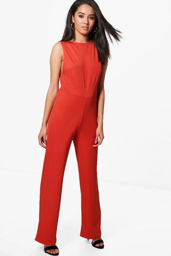 Petite Keira Low Side Wide Leg Jumpsuit