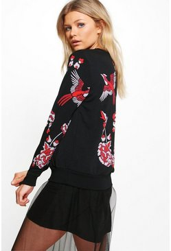 Petite Kelly Bird Printed Sweat