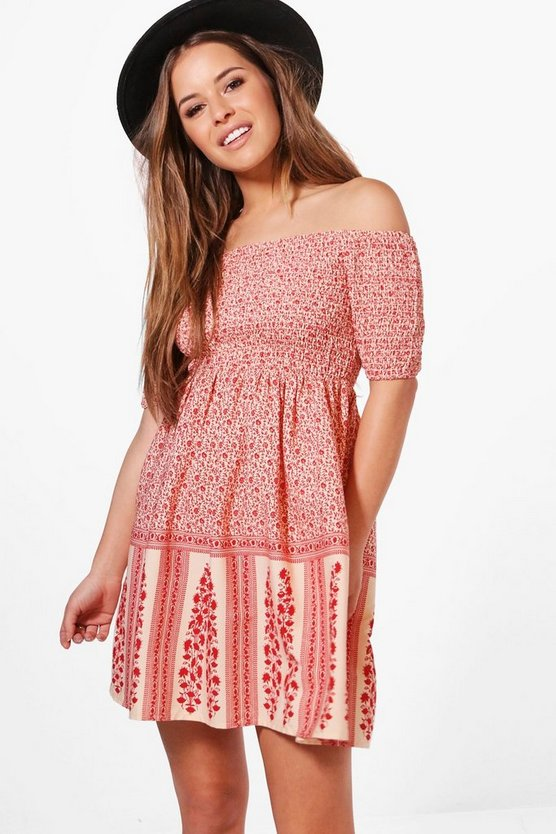 Petite Eliza Off The Shoulder Sundress