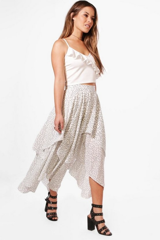 Petite Isabelle Star Print Layered Maxi Skirt