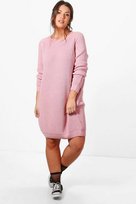 Plus Harley Knitted Slouchy Dress