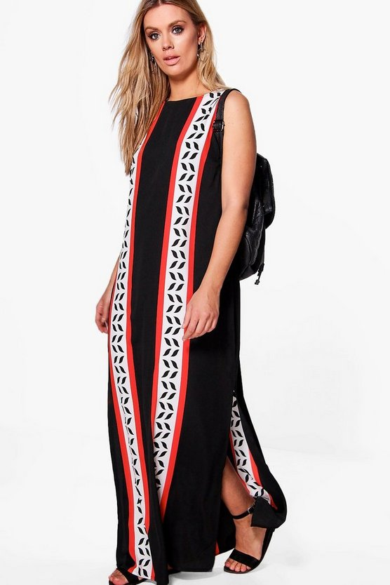 Plus Anne Split Front Column Maxi Dress