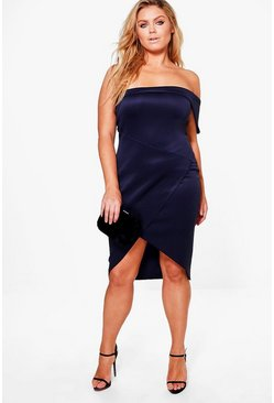 Plus Jess Bandeau Wrap Midi Dress