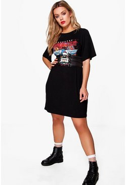 Plus Blair Printed Band Belt 2 in 1 T-shirt Dress