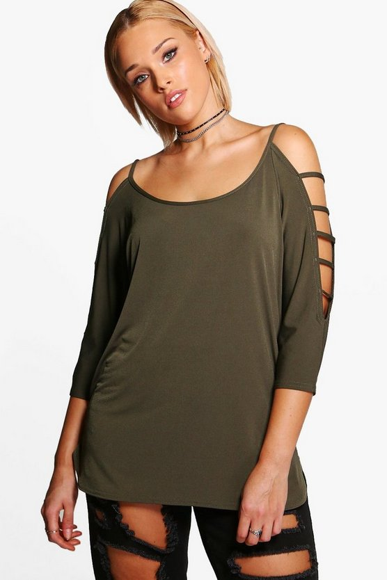 Plus Edith Strappy Detail Top
