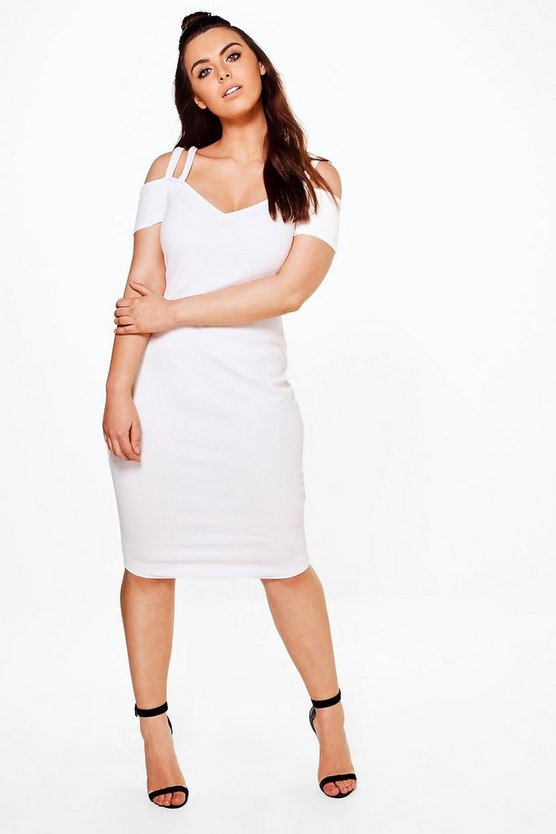 Plus Double Strap Midi Dress