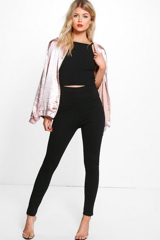 Petite Julia High Waisted Crepe Trouser