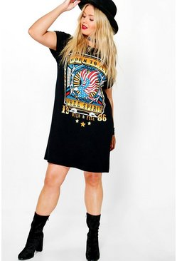 Plus Lola Printed T-shirt Dress