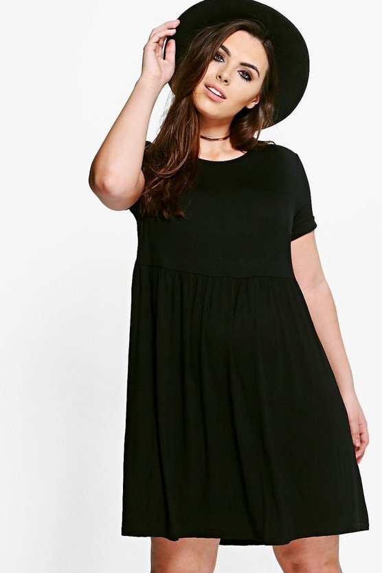 Plus Mandy Smock Skater Dress