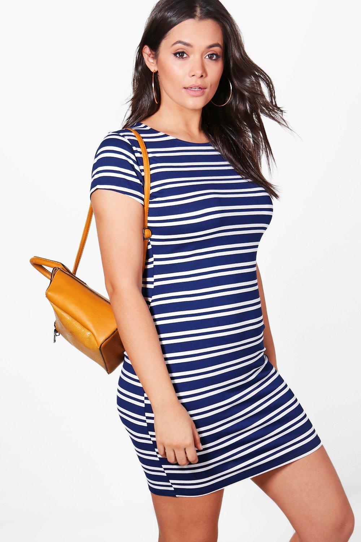 Plus Bella Striped Bodycon Dress