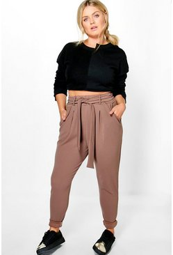 Plus Jenni Bow Tie Waist Pleat Front Trouser