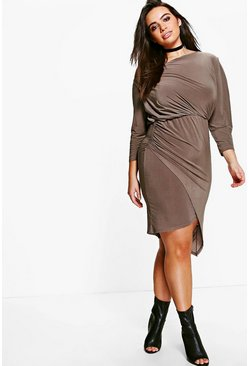 Plus Sasha Off The Shoulder Asymmetric Dress